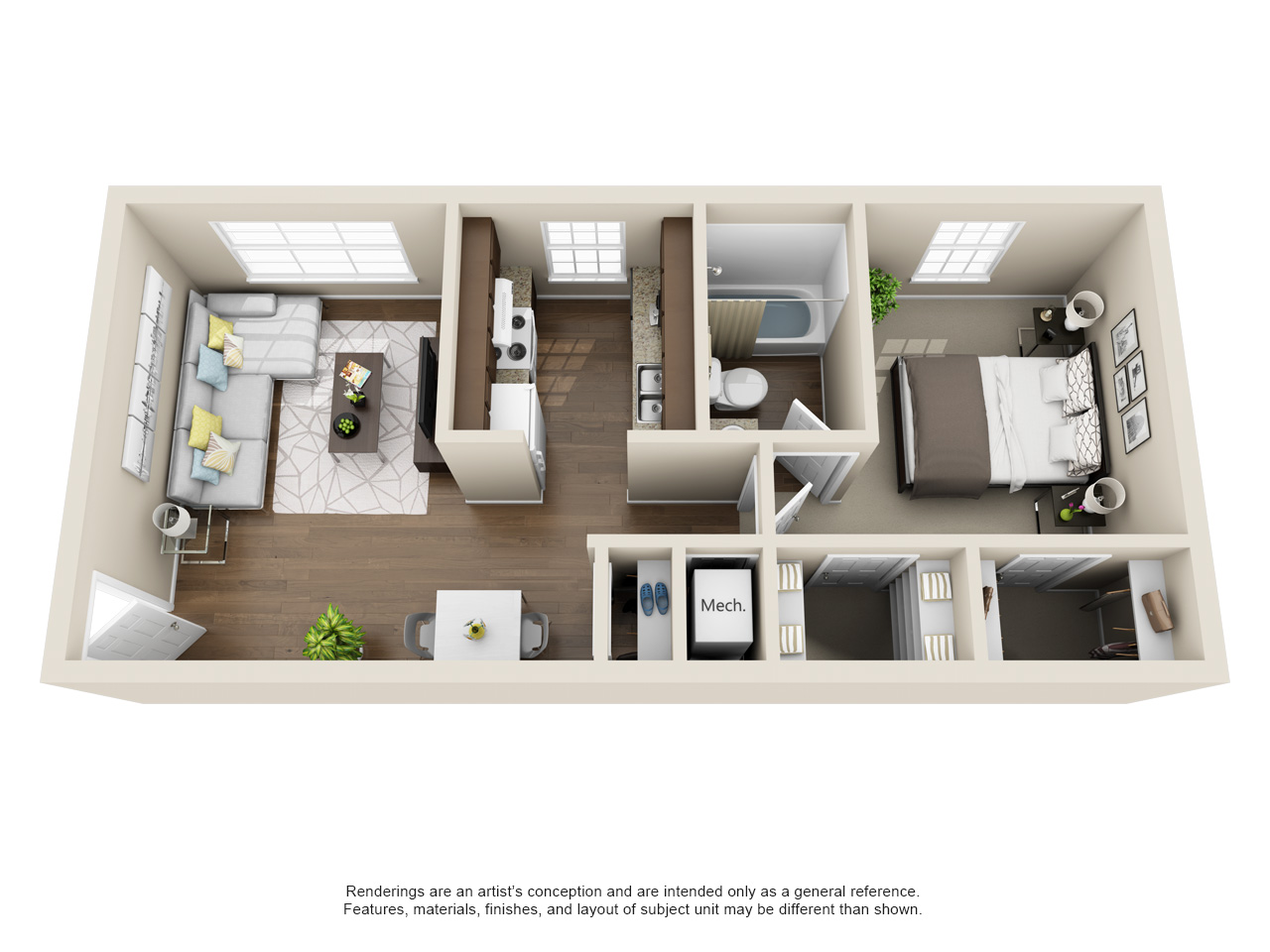 Single Bedroom Floorplan
